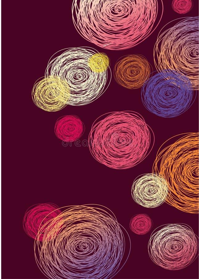 Rund färgrik abstrakt bakgrund royaltyfri illustrationer