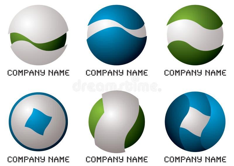 rund företagslogo vektor illustrationer