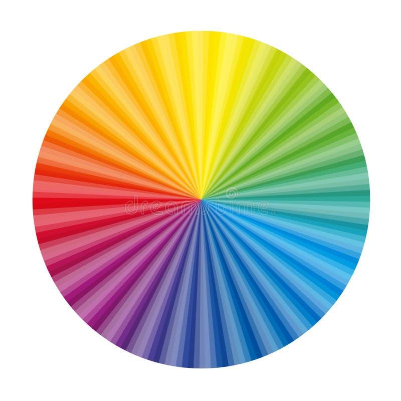Rund fan för färglutningdiagram stock illustrationer