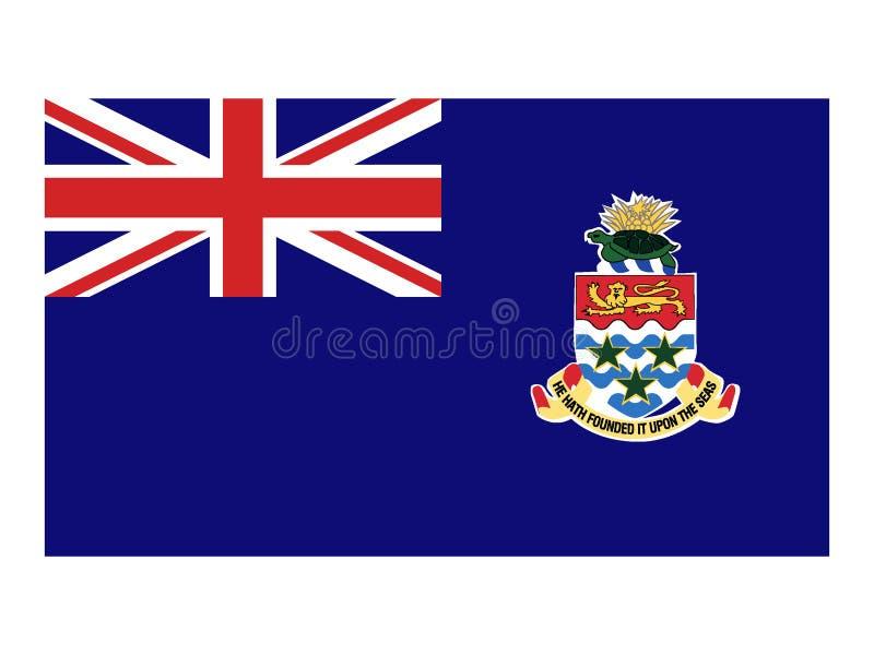 Rund flagga av Caymanöarna vektor illustrationer