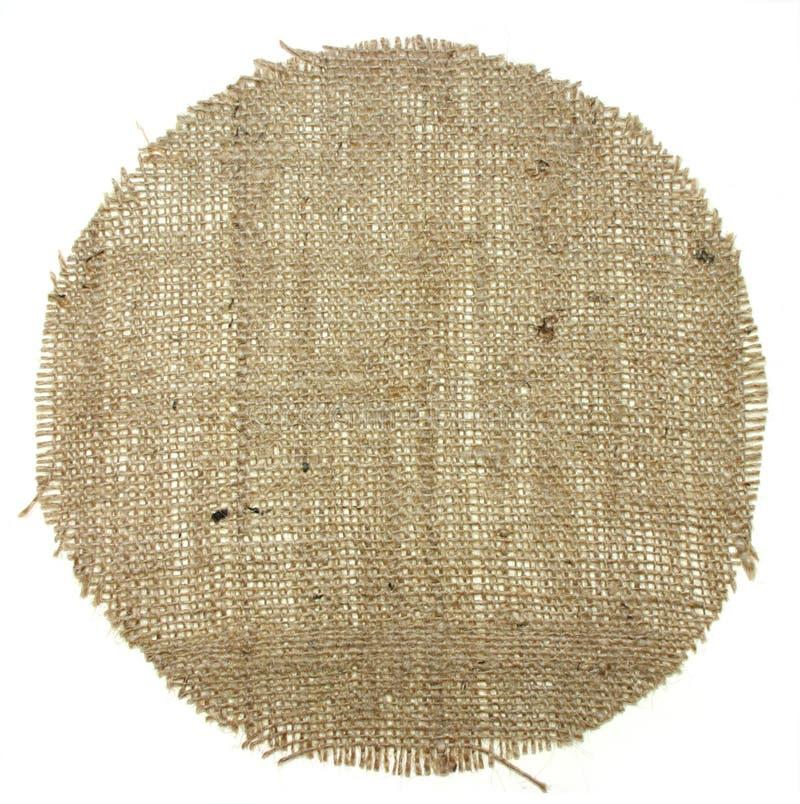 rund form för burlapkanfas arkivfoton
