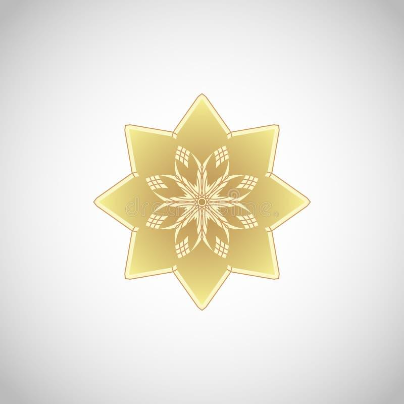 Rund geometrisk prydnad stock illustrationer