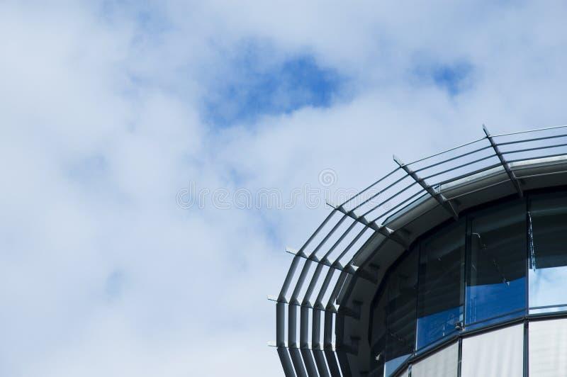 Rund glass fasad fotografering för bildbyråer
