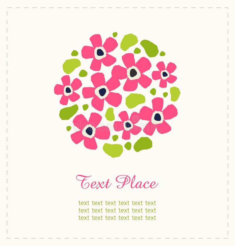 Rund grupp av blommor Gullig blommabukett Kan användas för hälsa och bröllopkort, gåvor, vykort, inbjudningar Rund sha royaltyfri illustrationer