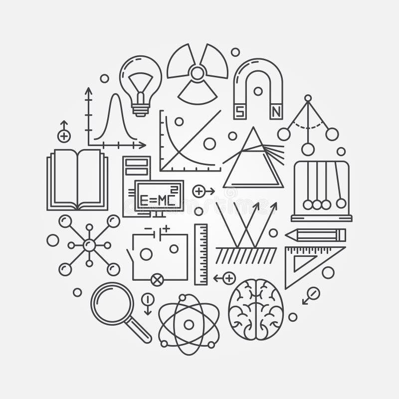 Rund illustration för fysik royaltyfri illustrationer
