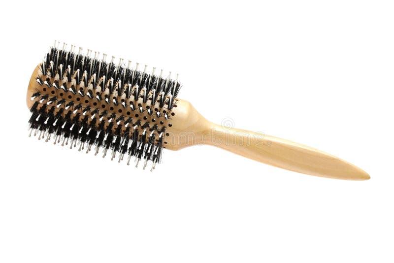 rund isolerad professionell för hårborste frisör arkivfoton