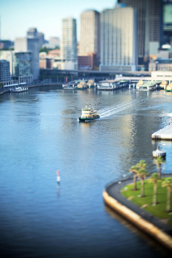 Rund kaj Sydney Ferry Harbour arkivfoto
