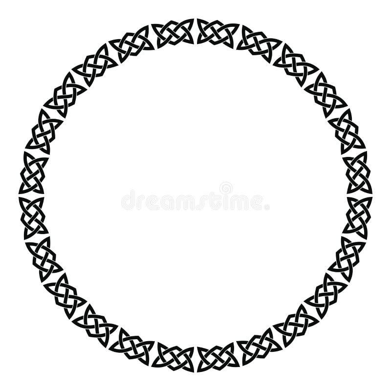 Rund keltisk prydnad vektor illustrationer