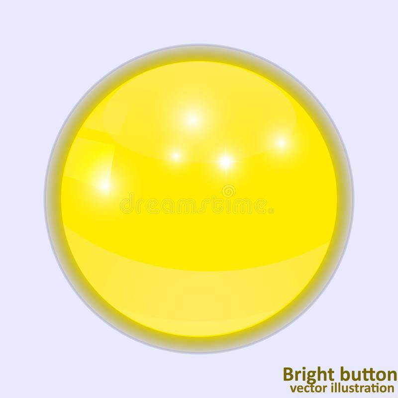 Rund ljus knapp vektor illustrationer