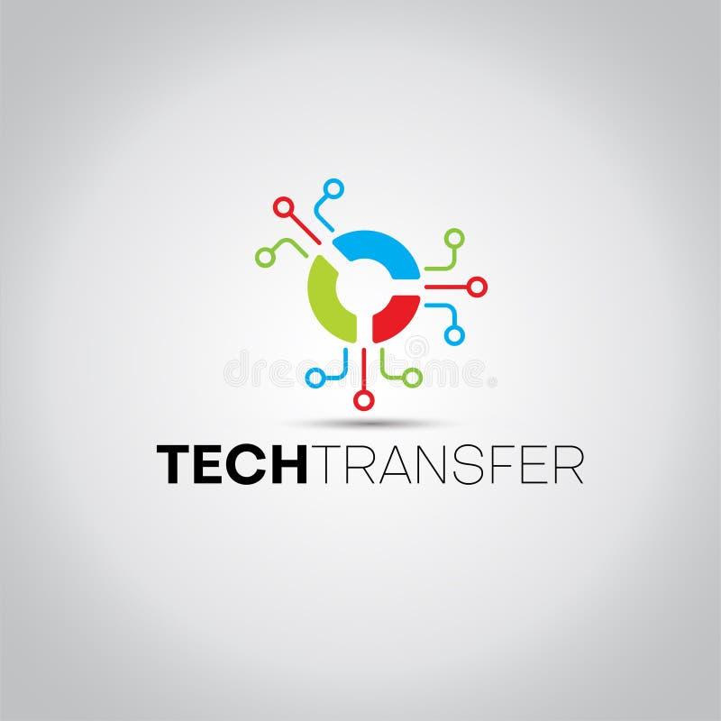 Rund logo för dataTechvektor royaltyfri illustrationer