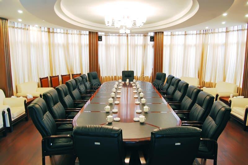 Rund mötesrum arkivbild