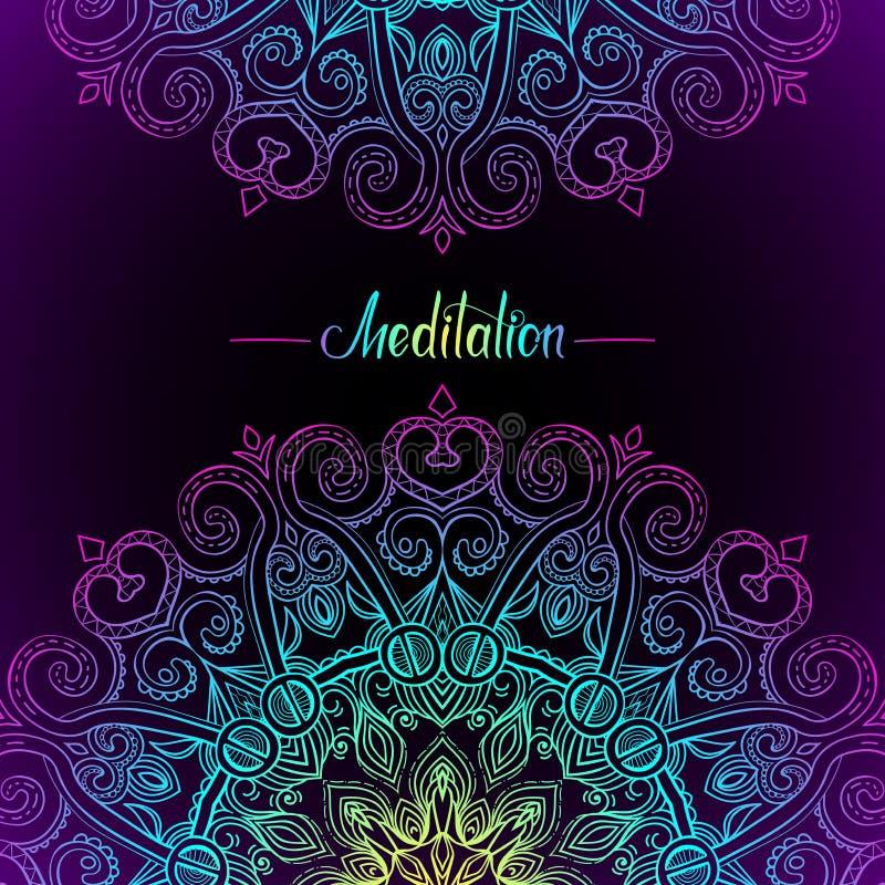 Rund Mandala Frame-11 royaltyfri illustrationer