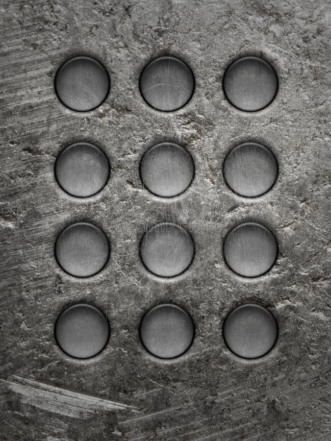 Rund metallplatta arkivfoto