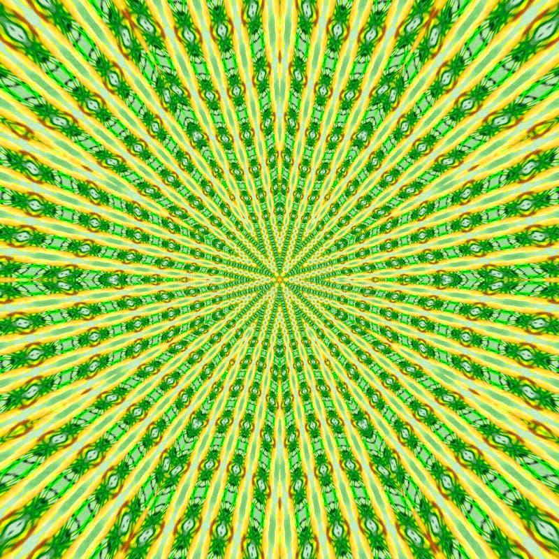 Rund modell i grungestil och gröna färger fodrad modell royaltyfri illustrationer