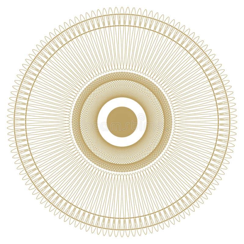 Rund modell modell med spirala beståndsdelar för designarbete vektor illustrationer