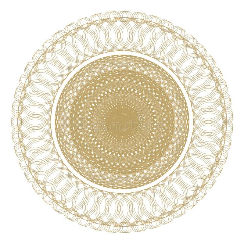 Rund modell modell med spirala beståndsdelar för designarbete royaltyfri illustrationer