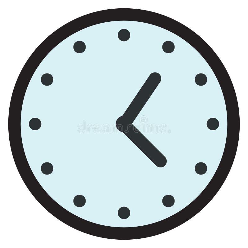 Rund parallell klockaframsida för vägg, klockasymbol vektor illustrationer