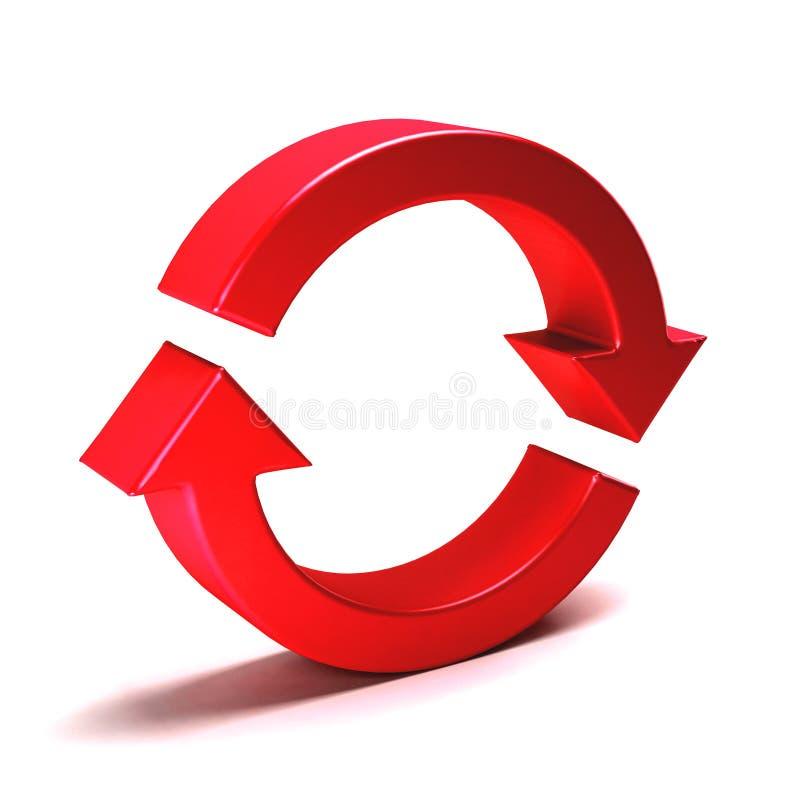 Rund pil Rotation gör om illustrationen för tolkningen 3D stock illustrationer