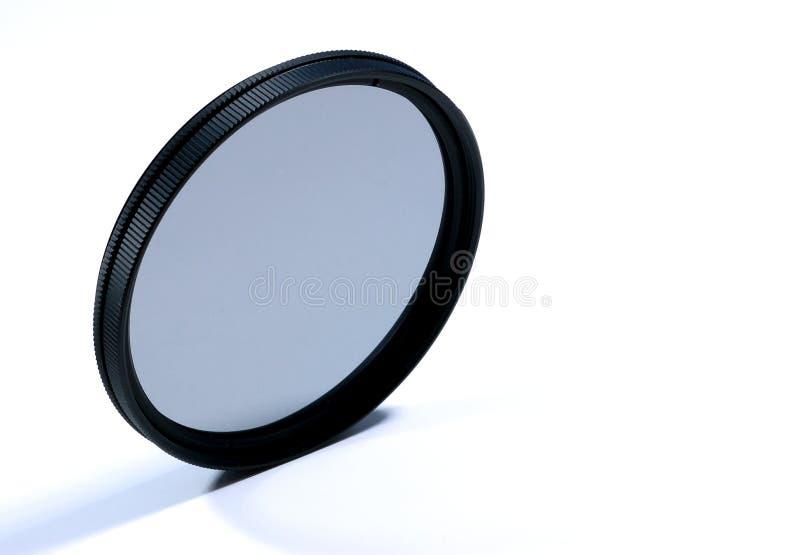 rund polarisering för filterlins arkivfoto