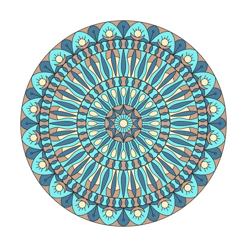 Rund prydnad Kombinationen av geometri och hand drog modeller vektor illustrationer