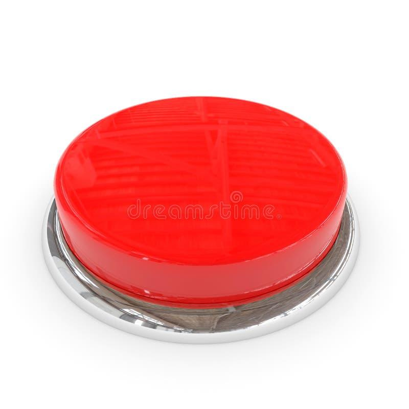 rund röd cirkel för blank krom för knapp 3d vektor illustrationer