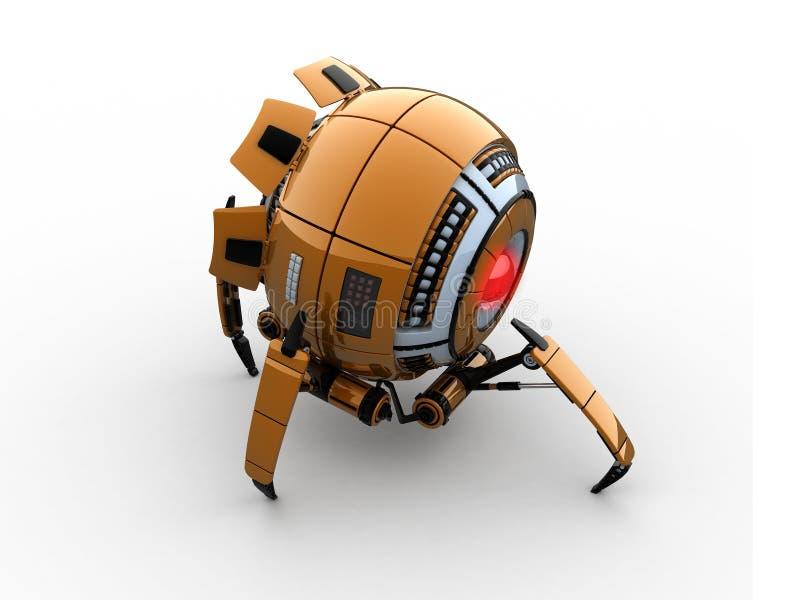 rund robot vektor illustrationer