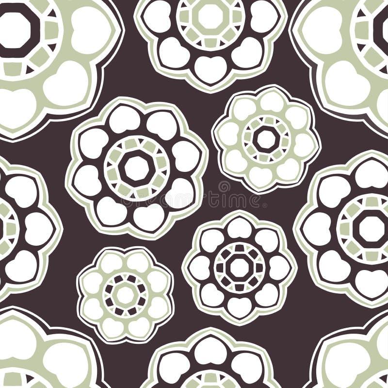 Rund sömlös bakgrund ethnic mandala tryck tappning för produkt för blommaemballagemodell vektor illustrationer