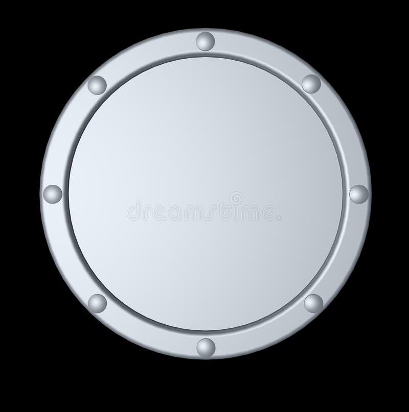 rund sköld för metall vektor illustrationer
