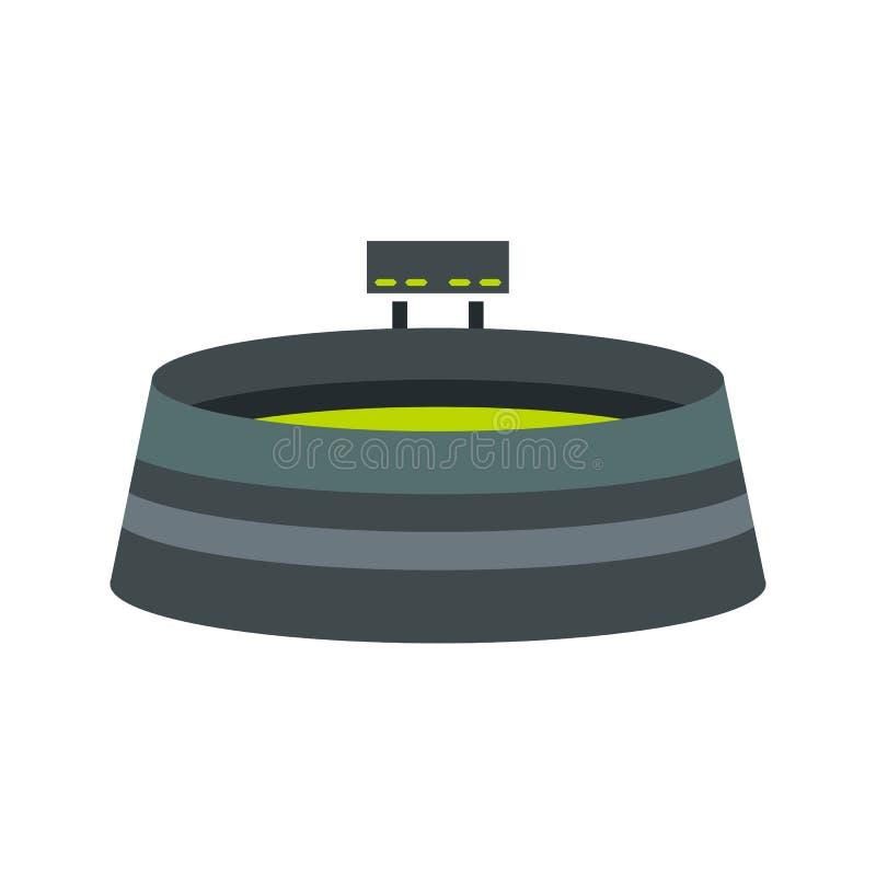 Rund stadion med funktionskortsymbolen stock illustrationer