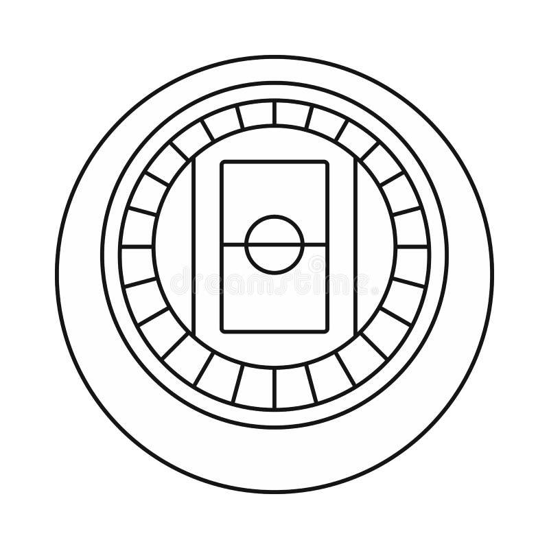 Rund symbol för bästa sikt för stadion, översiktsstil stock illustrationer