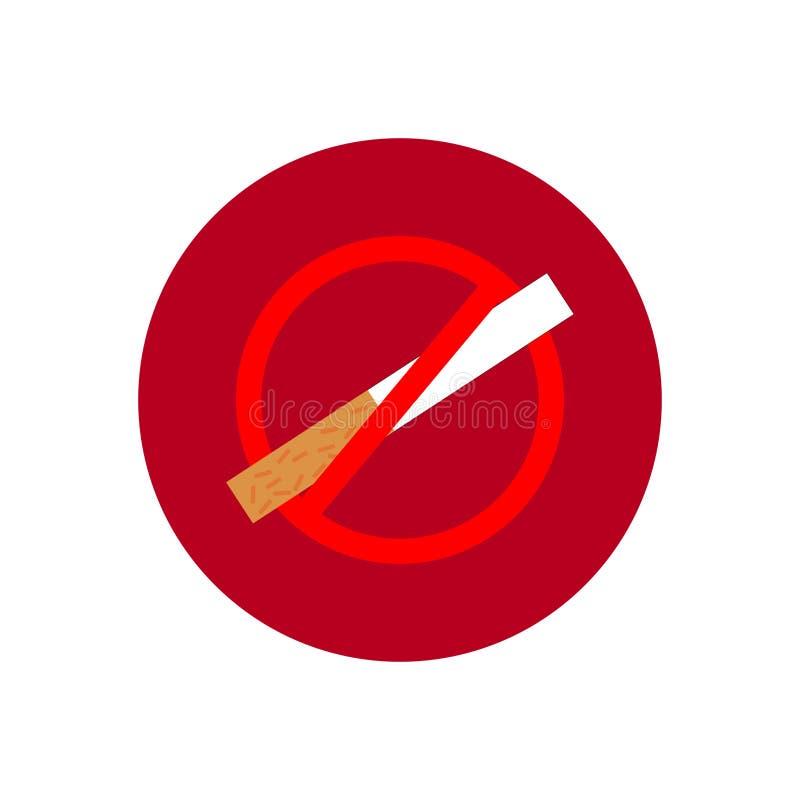 Rund symbol med att röka förbjudet symbol royaltyfria bilder
