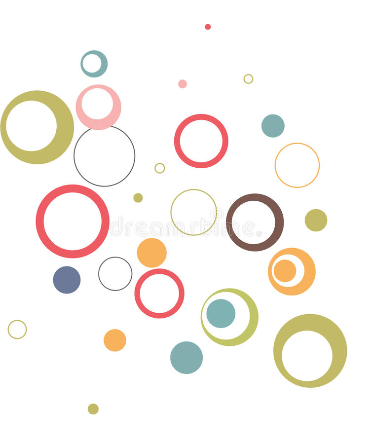 Rund und rund mit unterschiedlicher Farbe lizenzfreie abbildung