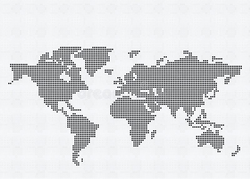 rund värld för översiktsPIXEL royaltyfri illustrationer