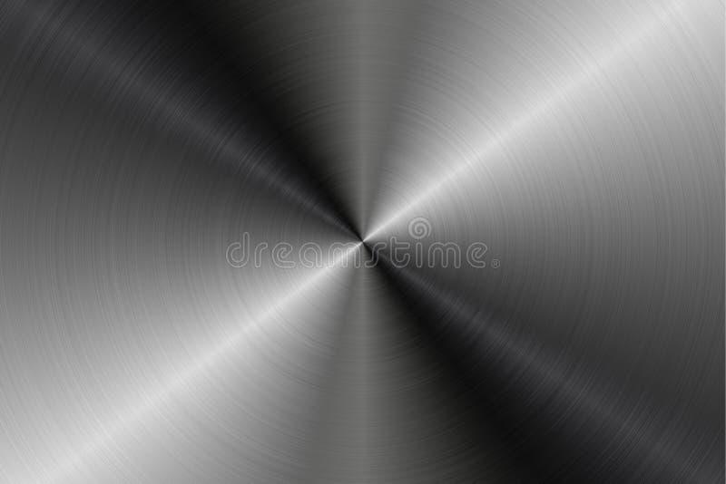 Runda bakgrunder för textur för metallyttersidor, textur 10 royaltyfri illustrationer