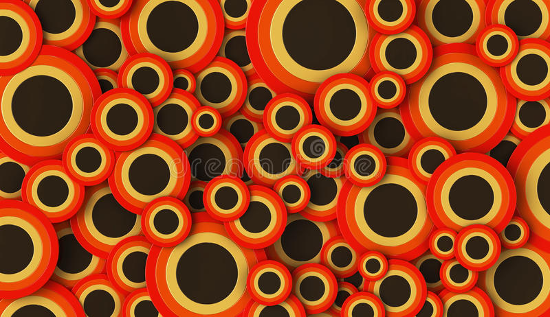 runda former 3D på vanlig bakgrund royaltyfri illustrationer