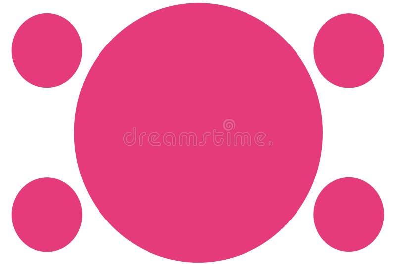 Runda kul?ra baner - rosa cirklar Kan anv fotografering för bildbyråer