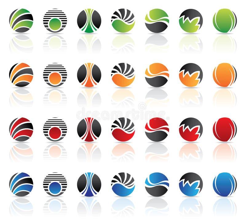 runda logoer stock illustrationer