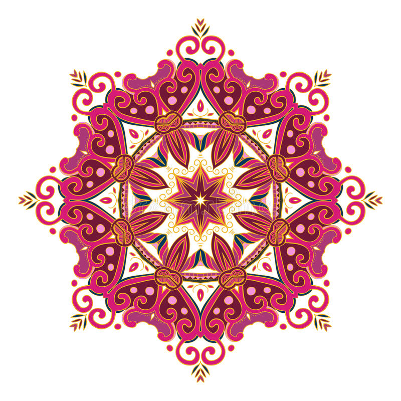 Runda Mandala Color 2 stock illustrationer