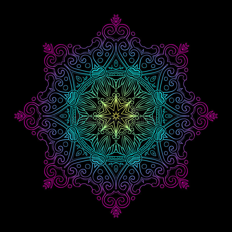 Runda Mandala Gradient royaltyfri illustrationer