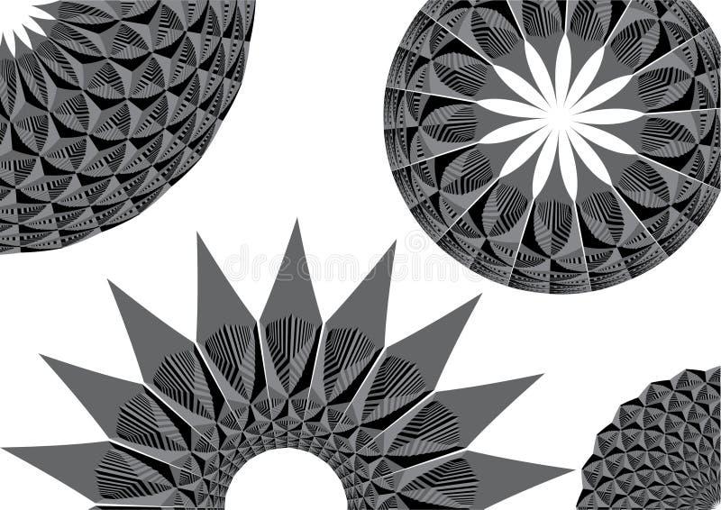 runda monochromatic modeller royaltyfri illustrationer