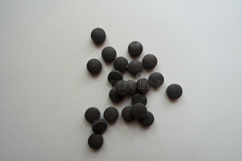 Runda piller för järn- chelate bis-glycinate royaltyfria foton