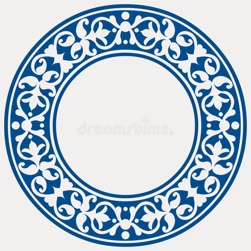 runda ramowy dekoracyjny ilustracja wektor