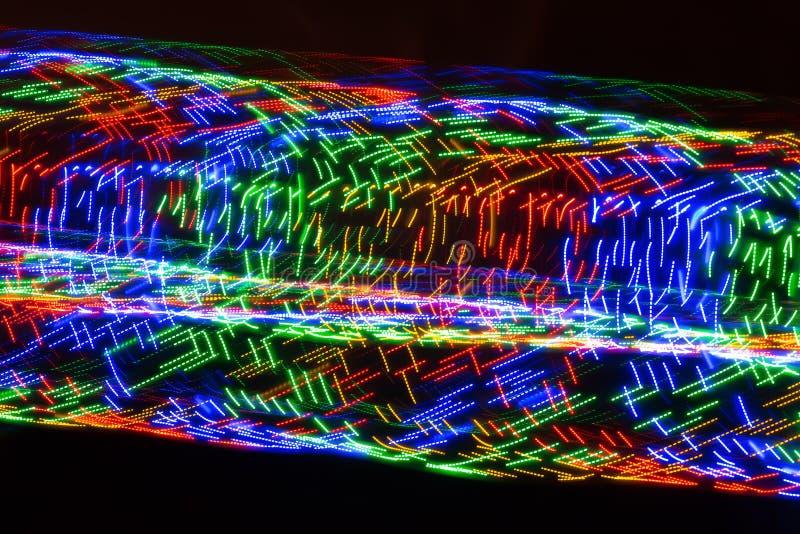 Runda streck av färgrikt ljus royaltyfria foton