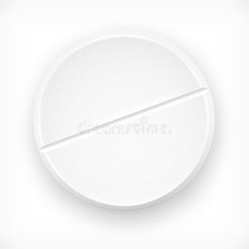 Tablet på vit vektor illustrationer