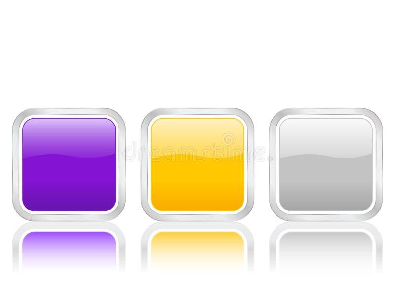 rundade fyrkanter för cont symbol royaltyfri illustrationer