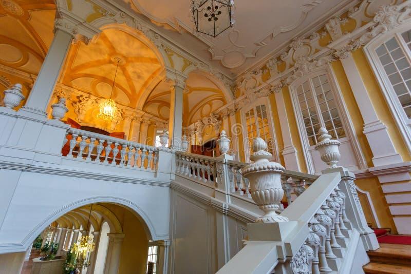 Rundale宫殿,拉脱维亚内部和细节  免版税库存图片