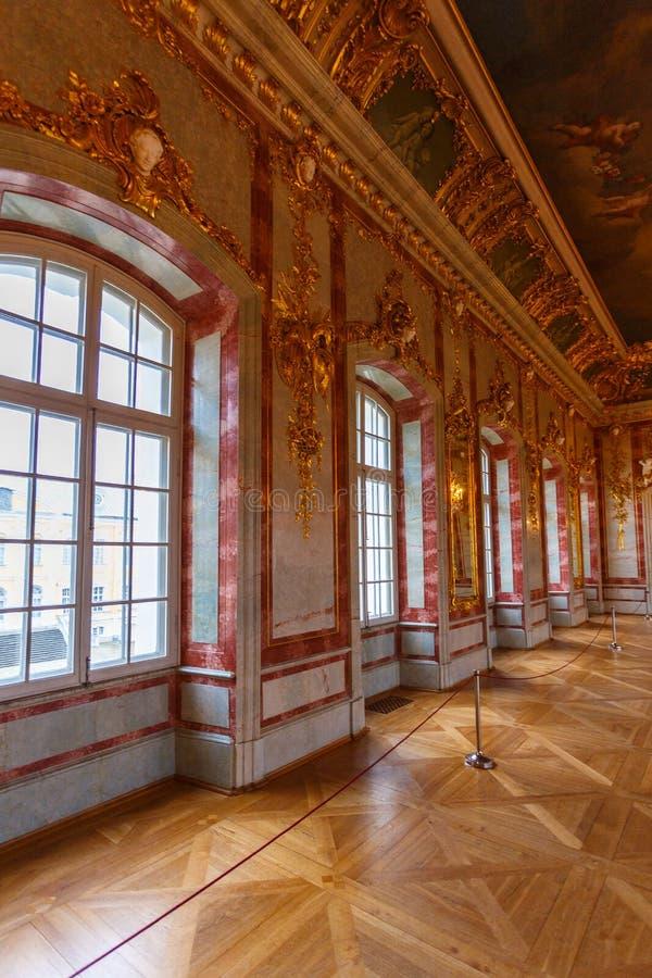 Rundale宫殿,拉脱维亚内部和细节  免版税库存照片