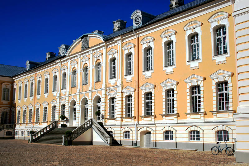Rundale castle in Latvia royalty free stock photos