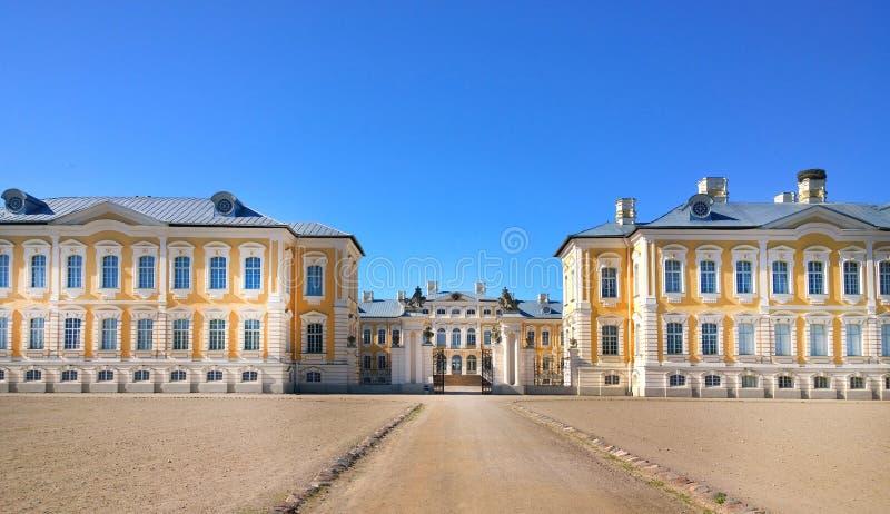 Rundale Castle Latvia. Rundale Museum.  stock photos