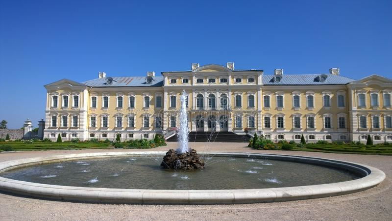 Rundale Castle Latvia. Rundale Museum.  stock photo